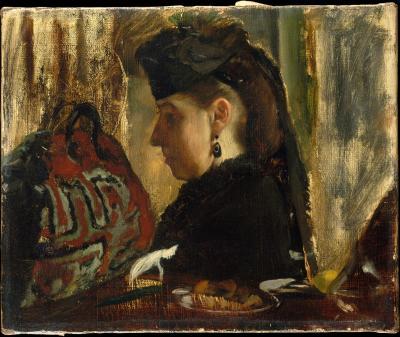 Obraz Edgar Degas - Mademoiselle Marie Dihau