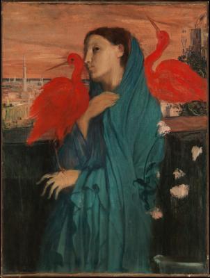 Obraz Edgar Degas - Młoda kobieta z ibisami