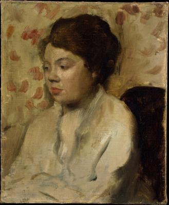 Obraz Edgar Degas - Portret młodej kobiety