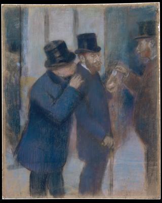 Obraz Edgar Degas - Portret na giełdzie