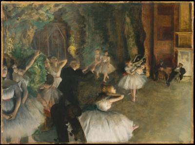 Obraz Edgar Degas - Próba baletowa na scenie