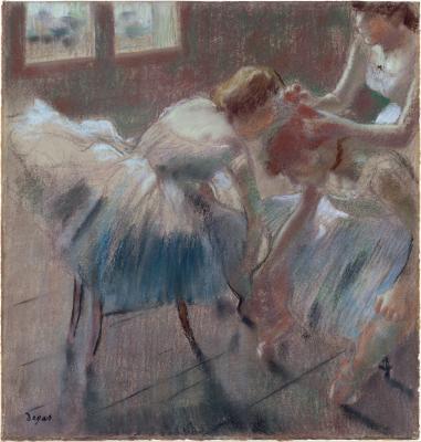 Obraz Edgar Degas - Przygotowania do baletu