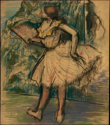 Obraz Edgar Degas - Tancerka z wachlarzem