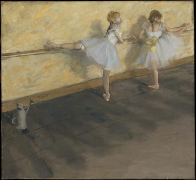 Obraz Edgar Degas - Tancerki ćwiczące przy poręczy