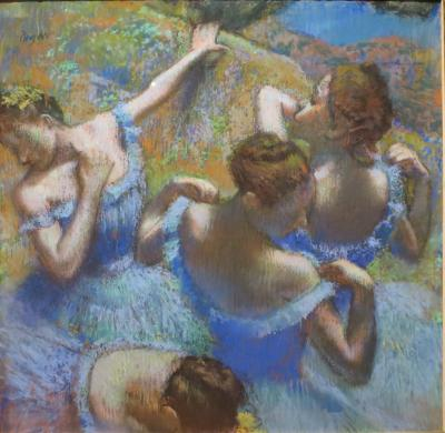 Obraz Edgar Degas - Tancerki w błękicie