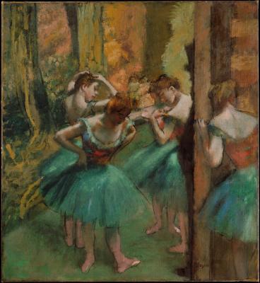 Obraz Egdar Degas - Tancerki w różu i zieleni