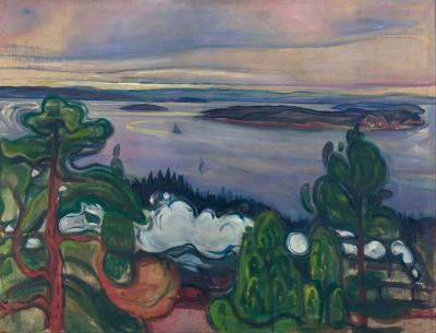 Obraz Edvard Munch - Dym pociągu