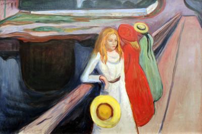 Obraz Edvard Munch - Dziewczęta na moście