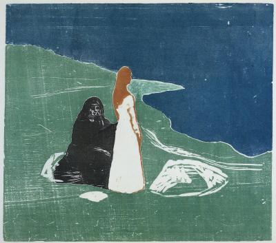 Obraz Edvard Munch- Dwie kobiety na brzegu