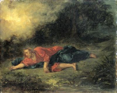 Obraz Eugène Delacroix - Agonia w ogrodzie