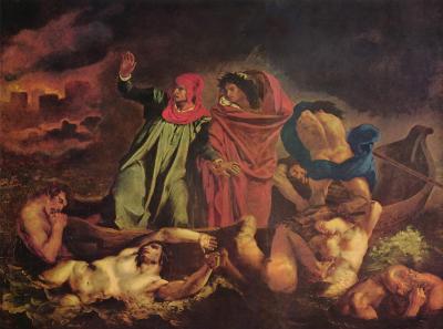 Obraz Eugène Delacroix - Barka Dantego