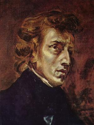 Obraz Eugène Delacroix - Fryderyk Chopin