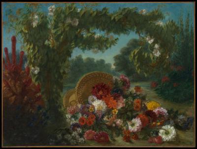 Obraz Eugène Delacroix - Kosz kwiatów