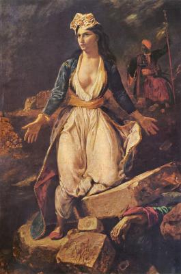 Obraz Eugène Delacroix - Oblężenie Missolungi