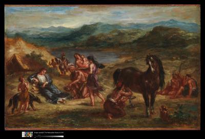 Obraz Eugène Delacroix - Owidiusz wśród Scytów