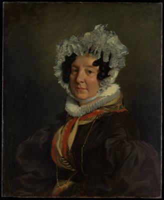Obraz Eugène Delacroix - Portret Madame Henri François Riesener