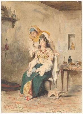 Obraz Eugène Delacroix - Saada, żona Abrahama Ben-Chimola