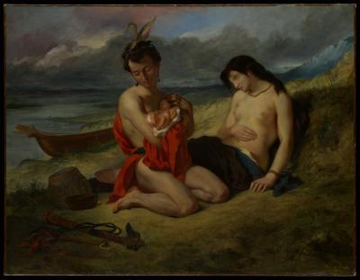 Obraz Eugène Delacroix - The Natchez