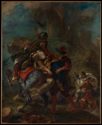 Obraz Eugène Delacroix - Uprowadzenie Rebeki