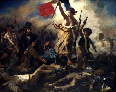 Obraz Eugène Delacroix - Wolność wiodąca lud na barykady