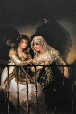 Obraz Francisco Goya -  Majas na balkonie