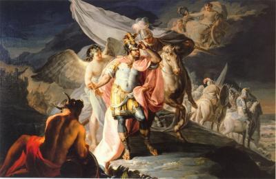 Obraz Francisco Goya - Hannibal zwycięzca przekraczający Alpy