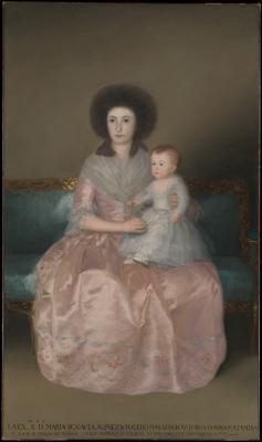 Obraz Francisco Goya - Hrabina Altamira z córką