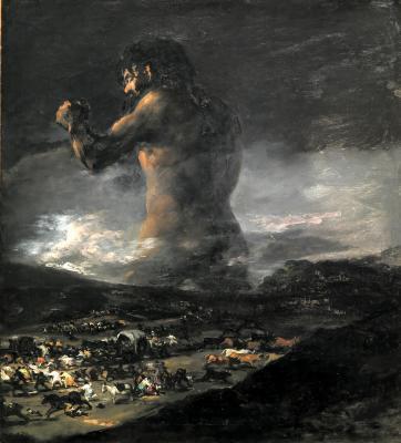 Obraz Francisco Goya - Kolos