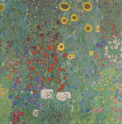 Obraz Gustav Klimt - Ogród wiejski ze słonecznikami