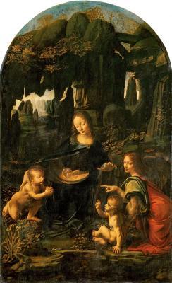 Obraz Leonardo da Vinci - Madonna w grocie