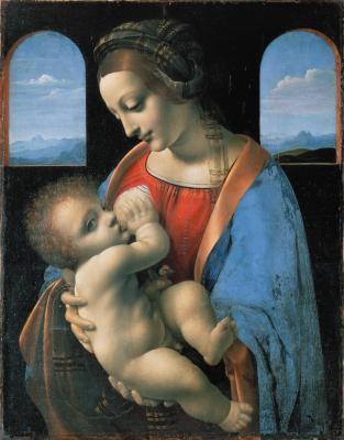 Obraz Leonardo da Vinci -Madonna Litta