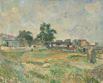Obraz Pau Cezanne - Krajobraz w pobliżu Paryża