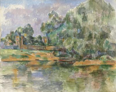 Obraz Paul Cezanne - Brzeg rzeki