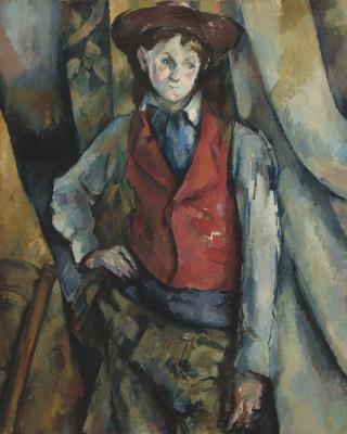 Obraz Paul Cezanne - Chłopiec w czerwonej kamizelce
