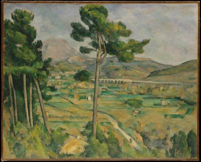Obraz Paul Cezanne - Góra Świętej Wiktorii i dolina rzeki