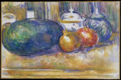 Obraz Paul Cezanne - Martwa natura z arbuzem i granatami