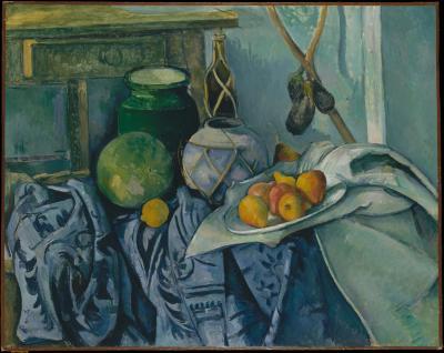 Obraz Paul Cezanne - Martwa natura z bakłażanami i dzbanem