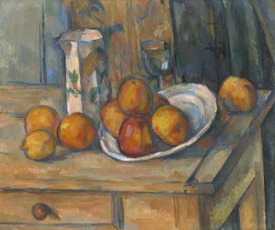 Obraz Paul Cezanne - Martwa natura z dzbankiem mleka i owocami