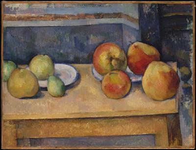 Obraz Paul Cezanne - Martwa natura z jabłkami i brzoskwiniami