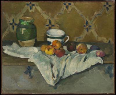 Obraz Paul Cezanne - Martwa natura z kubkiem i jabłkami