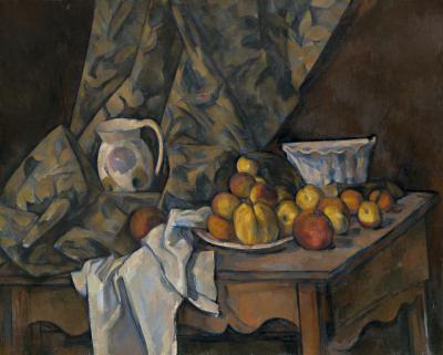 Obraz Paul Cezanne - Martwa natura. Jabłka i brzoskwinie