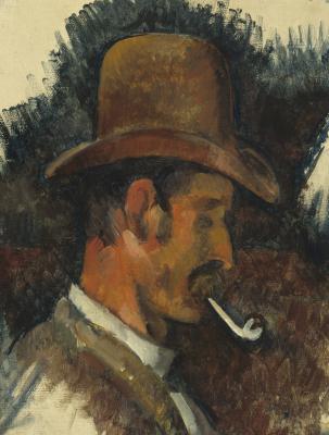 Obraz Paul Cezanne - Mężczyzna z fajką