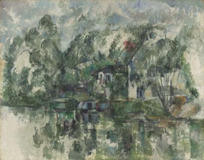 Obraz Paul Cezanne - Na brzegu rzeki
