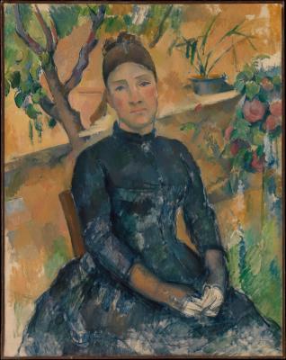 Obraz Paul Cezanne - Portret pani Cezanne