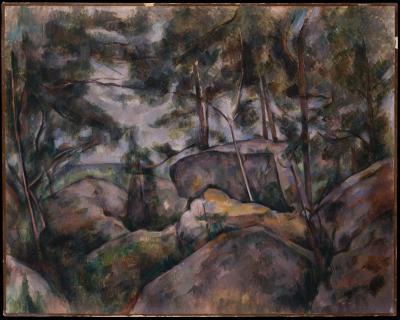 Obraz Paul Cezanne - Skały w lesie