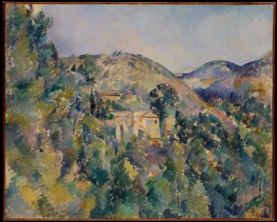 Paul cezanne - widok na domaine saint-joseph