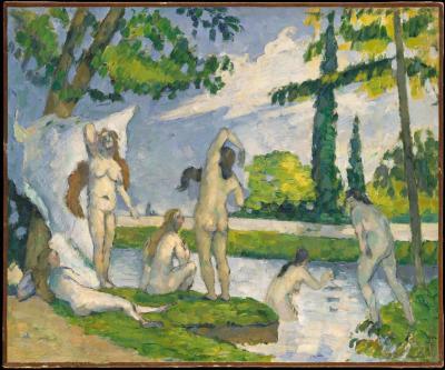 Obraz Paul Cezanne - Wielkie kąpiące się