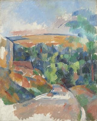 Obraz Paul Cezanne - Zakręt na drodze