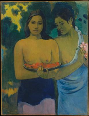 Obraz Paul Gauguin - Dwie tahitańskie kobiety