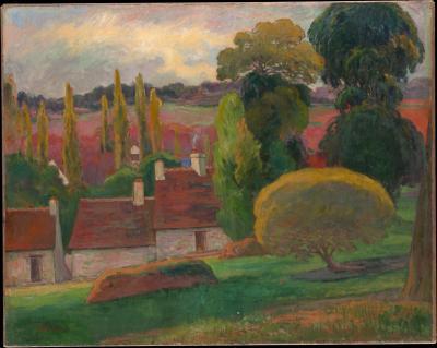Obraz Paul Gauguin - Farma w Bretanii